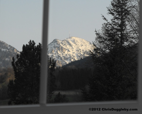 View of the 'Wendelstein' from my Bedroom Window