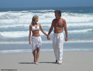 Just before the wedding - strolling on Llandudno Beach