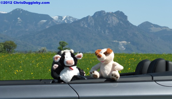RISKKO enjoying the sun with Uddele in her Convertible