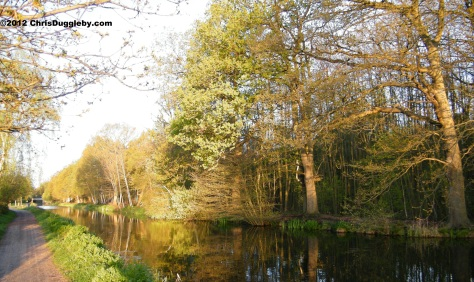 English Canal Scene in April