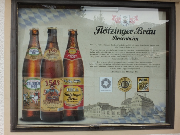 Advertisement for Rosenheim Beer first produced in 1543