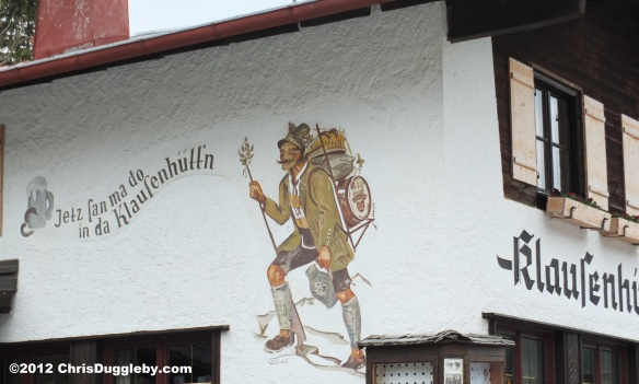 Wallpainting on Klausenhüttn Restaurant Spitzingsee