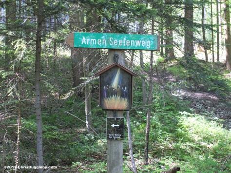 Armen Seelenweg ('Road for Poor Souls') sign post