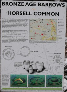 Horsell Common Archaeological Site Sign