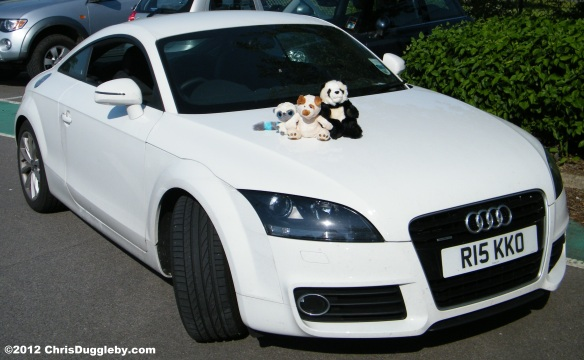Once upon a time there was a famous rapping dog with a white sports car......