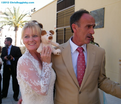 Juan, this little dog has just asked if he can spend the night with me and my new wife