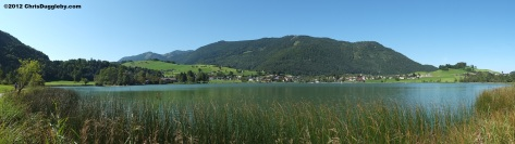 Panoramic View of Thiersee Lake in the Austrian Tyrol