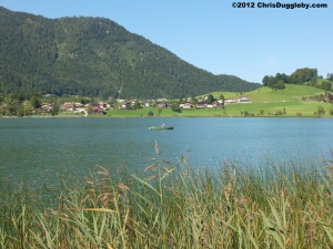 Rowing Solo on the Thiersee Lake in the Austrian Tyrol
