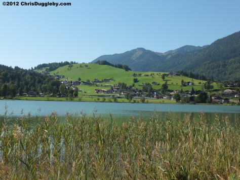 Tyrolean hillside-living overlooking the Austrian Thiersee Alpine Lake