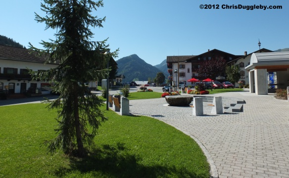 Village Meeting Point in the Austrian Tyrol