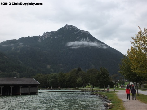 The southern Achensee lakeside walk is impressive even on a rainy day