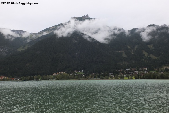 The Tyrolean Achensee - whereever you look you see mountains: the Brandenberg range to the East and the Karwendel range to the west