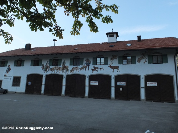 A Fire station with a difference in Bayrischzell on the German Alpine Strasse in Bavaria