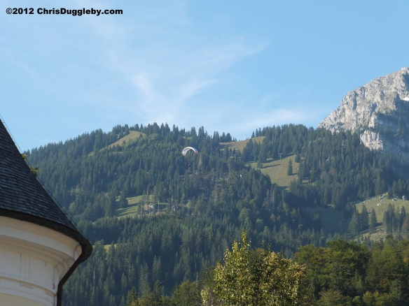 A novel way of getting from the Wendelstein mountain to St Margareth's Church Bayrischzell