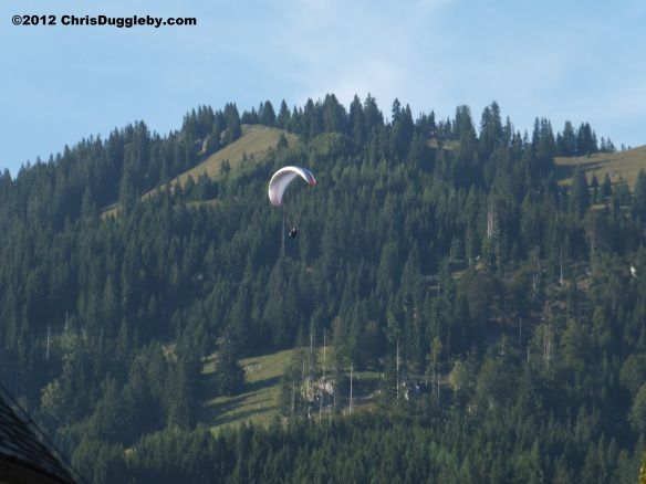 Paragliding (or hanggliding) one of many ways to get down from the Wendelstein to Bayrischzell