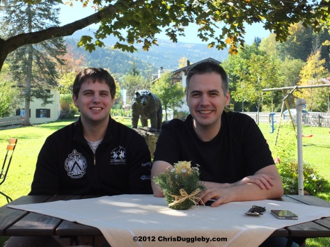 Alex and Pascal Duggleby and the Bad Feilnbach Forest Bear