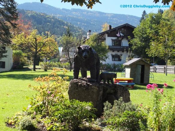 View from restaurant garden of Baerenstubn in Bad Feilnbach