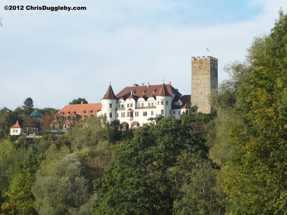 View of Schloss Neubeuern coming from the Austrian border