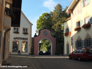 One of the two gateways (Tors) leading into the historical market village of Neubeuern in Bavaria