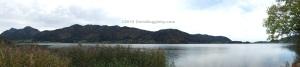 Panoramic view of Lake Schliersee in Autumn - wunderschön auch im Herbst