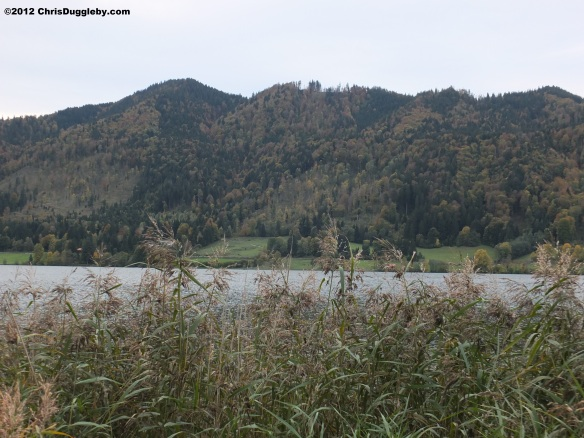 Autumn view of the hills surrounding Lake Schliersee