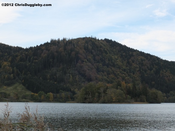 Look in any direction and you will see Autumn colour surrounding the Bavarian Lake Schliersee