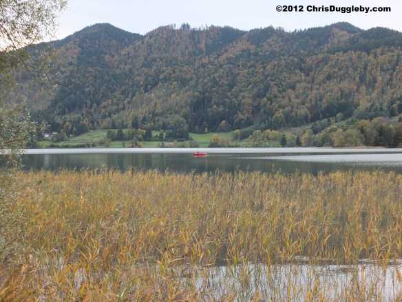 Autumn sports on Lake Schliersee: Escaping the crouds and enjoying the views from a fishing boat
