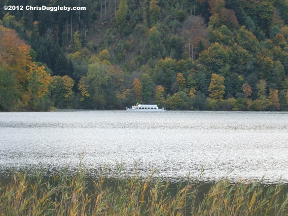 There are less strenuous ways of taking an Autumn boat trip around Lake Schliersee