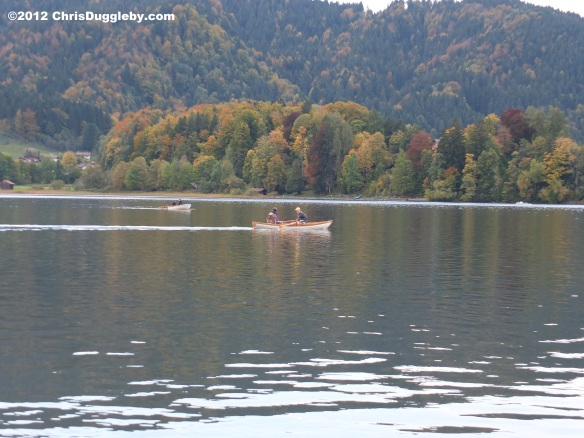 Lake Schliersee Sports: For the very energetic try there are Autumn boat races - but mind the fishing rods!