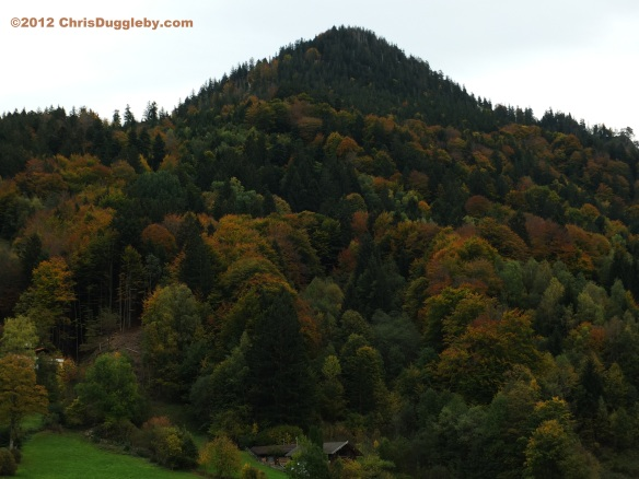 Autumn colours decorate the hills surrounding Bavarian Lake Schliersee