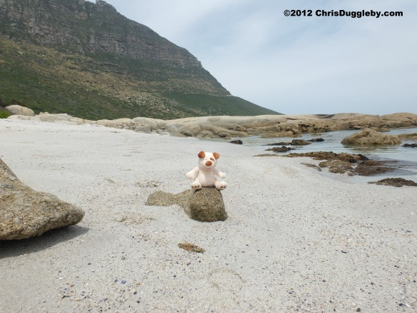 RISKKO visits the smaller beach at Sandy Bay