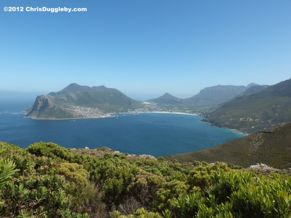 View of Hout Bay from Chapmans Peak, Cape Town, South Africa