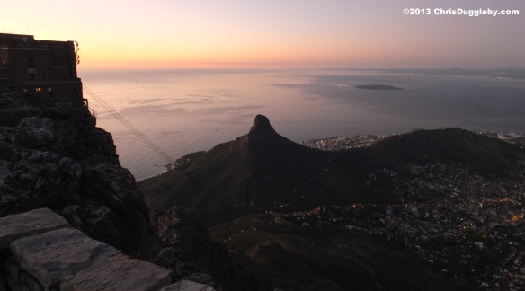 After sunset it is time to take the last cable car down Table Mountain before the mountain ghosts arrive