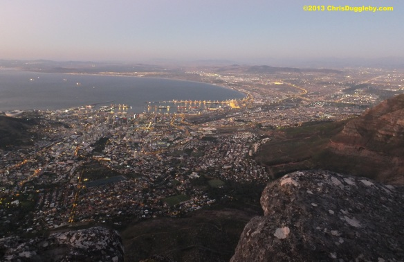 Below us the city and harbour lights begin to glow ready for the night ahead. Sleep well Cable Mountain!