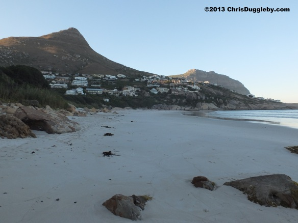 Sunrise view of Llandudno beach, Cape Town, before most of the locals wake up. This is the best time of day for a peaceful stroll on the beach
