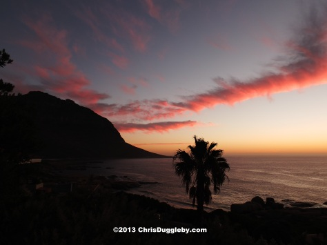 At the end of a warm day discovering ship wrecks in CapeTown how about a nice sunset evening on the balcony?