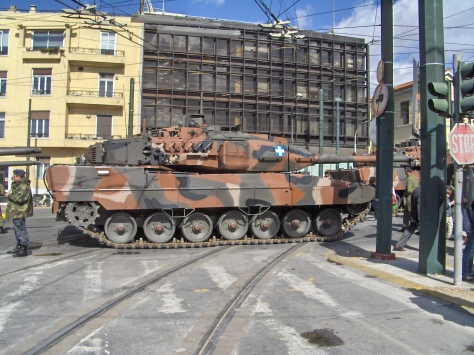 Hellenic Army Tank LEOPOLD 2A6 HEL Supplied By KMW (Photo Courtesy Of Konstantinos Stampoulis)