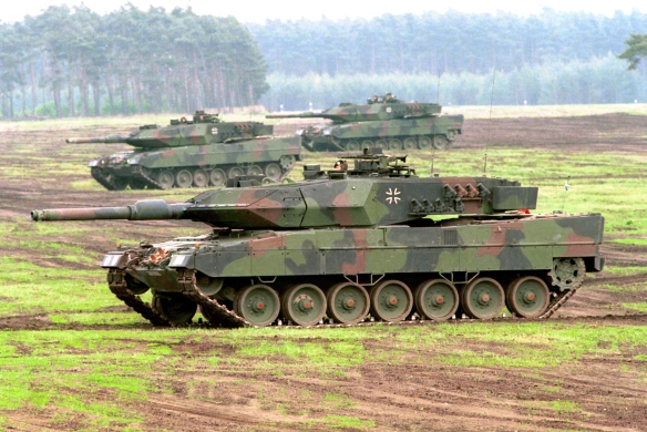 German Leopard Tank 2a5 Manufactured By KMW (Photo Courtesy Of The German Army)