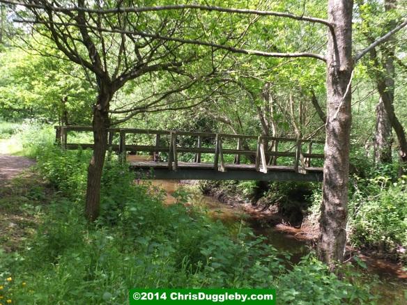 Footbridge Over Hoebridge Stream Near Woking Park