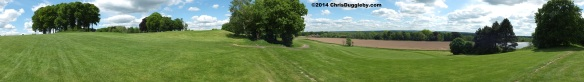 Panoramic Of Hoebridge Golf Course From Bridleway