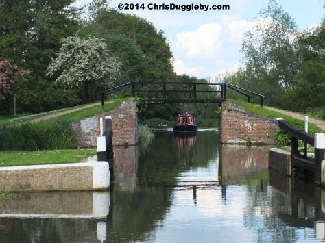 Footbridge Over River Wey Near Walsham Lock Cottage