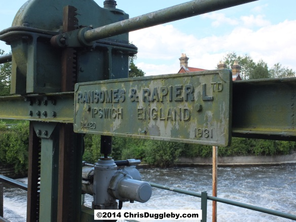 1931 Plaque Dating Weir Equipment at Walsham