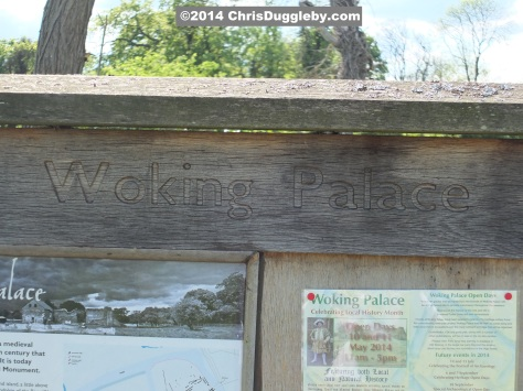 Wooden Sign At Entrance To Woking Palace