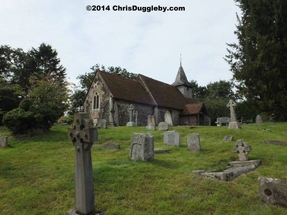 St. Nicholas Church on Church Hill at Pyrford