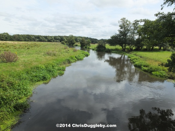 The Abbey Stream together with the river Wey create a natural island upon which Newark Priory was built