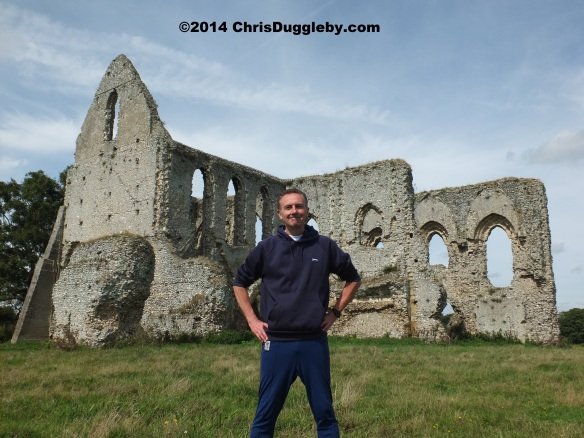 Chris Duggleby during photoshoot for TRANSFORMATES video at Newark Priory