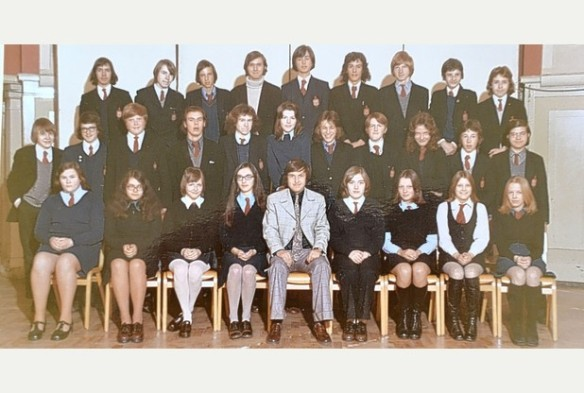 1973 Photo of 15 year old Chris Duggleby (top row - polo neck) - Courtesy of form teacher Roger Mitchell