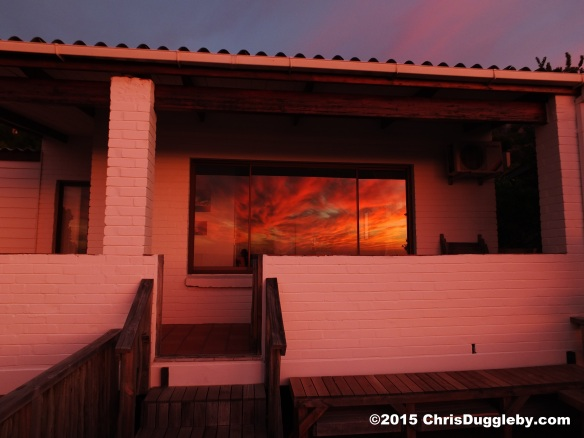 1. Reflection of the sky after sunset in the windows of my pad at Sunset Rocks, Cape Town