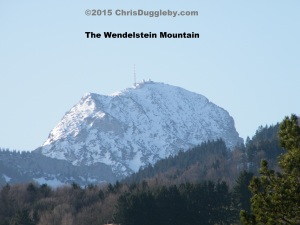 1 View of the Wendelstein Mountain in March from Bad Feilnbach