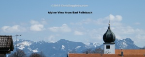 2 View of the Alps over Bad Feilnbach rooftops (from Chris's kitchen window)